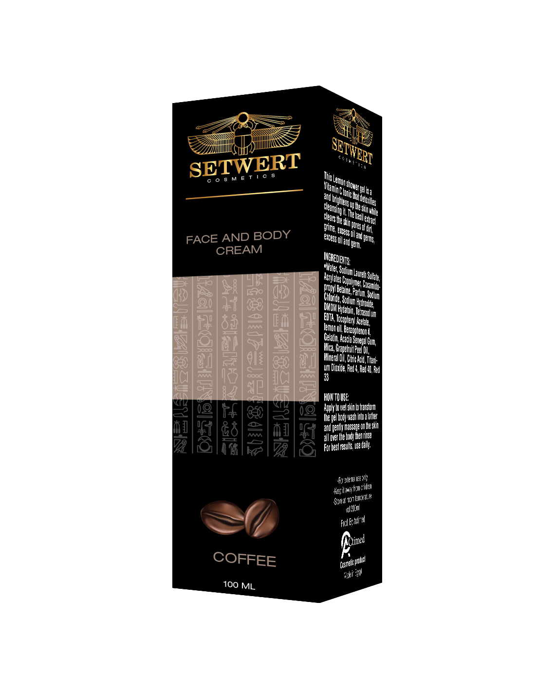 Setwert  face and body cream with coffee