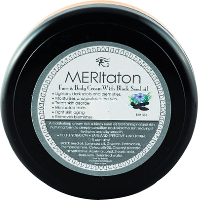 meritaton face and body cream with black seed