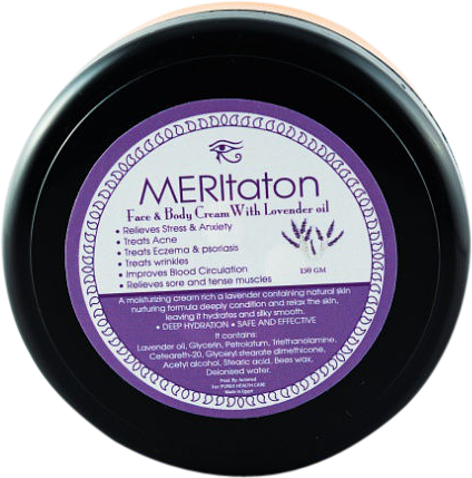 meritaton face and body cream with lavander