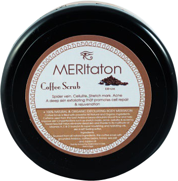 meritaton body scrub with coffee